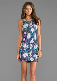 SOMEDAYS LOVIN Zippora Ponte Dress in Zippora Floral