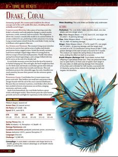 Embedded Dungeons And Dragons Rules, Dungeons And Dragons Classes, Dnd Dragons, Dungeons And Dragons Homebrew, Ocean Monsters, Cool Monsters, Dnd Monsters, Curious Creatures, Magical Creatures