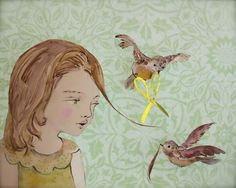 The Wee Nest by paper artist Elly MacKay