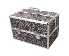 Leopard Print Cosmetic/jewelry Train Case 15.4 9.8 9.8 . $59.99
