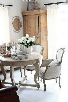 Beautiful french inspired dining table and chairs