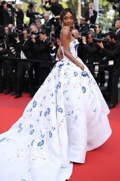 "Jourdan Dunn in Ralph & Russo Couture attends ""The Unknown Girl"" Premiere on May 18, 2016 #Cannes2016"