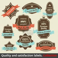 Vintage Satisfaction Labels