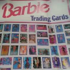 Collectible Barbie Cards Poster by HawkboxVintage on Etsy