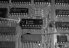 i4004 CPU board, 1970's
