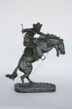 31 The Broncho Buster, Frederic Remington Henry Bonnard cast Historic Objects Gallery - Sagamore Hill National Historic Site