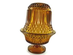 Amber Fairy Lamp Indiana Glass Princess House by ChromaticWit