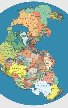 Politická mapa Pangey