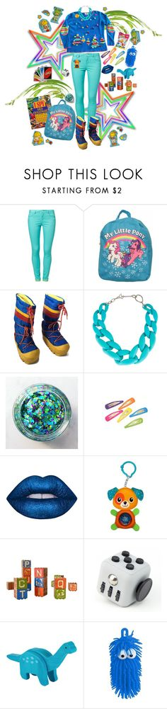 """""""Stocking Stuffer"""" by dust-mite ❤ liked on Polyvore featuring even&odd, My Little Pony, DIANA BROUSSARD, Punky Pins, Lime Crime, Dinosaurs, Vision and Shopkins"""