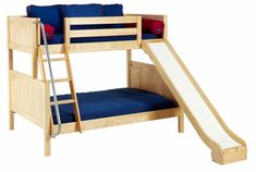 Maxtrix SLICK Twin over Full Bunk Bed with Slide MaxtrixSLICK Twin over Full Bunk Bed with Slides bedroom furniture twin and full bunk bed with slide white kid's bed with tent model bunkbed with tents and slide bunkbeds with slide SLICK SLOPE Twin Full Bunk Bed, Bunk Bed With Slide, Full Size Bunk Beds, Bunk Beds With Stairs, Kids Bunk Beds, Metal Bunk Beds, Bunk Bed Designs, Bedroom Designs, Loft Spaces