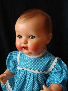 """Poupée ancienne bébé Raynal """"moi, je bois"""""""