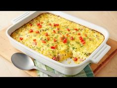 Breakfast + Brunch: Overnight Egg Bake ~ an easy breakfast casserole. Spend 30 minutes assembling the ingredients the night before, store it overnight in the fridge and pop it into the oven the next morning. Overnight Egg Bake, Overnight Breakfast Casserole, Make Ahead Breakfast, Breakfast Bake, Breakfast Dishes, Breakfast Recipes, Breakfast Ideas, Frozen Breakfast, Egg Recipes