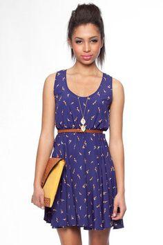 Dandelion Dress in Dark Blue $33 at www.tobi.com