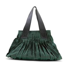 KAGURAYA/ソフトレザーハンド トートバッグ 緑 23940yen やわらかなフレアフォルムが魅力のバッグ