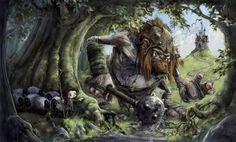 CGPortfolio - Jonny Duddle - The Troll and the Shepherd