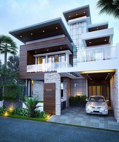 Dream house exterior, minimalist house design и modern house design. Minimalist House Design, Modern House Design, Minimalist Style, Modern House Exteriors, Modern Exterior, Exterior Design, House Front Design, House Structure Design, Garage Design