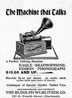 Featuring Phonographs, Gramophones and Graphophones of Bewildering Variety. A Visual Phonographic Aid for the Analog Enthusiast and Phonograph Collector Old Advertisements, Retro Advertising, Retro Ads, Old Record Player, Record Players, Vintage Cards, Vintage Images, Vintage Prints, Retro Vintage