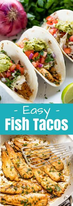 This Baja Fish Taco Recipe is super easy to make, healthy, and full of flavor. Your family will love this Mexican favorite! #thestayathomechef #fishtacos