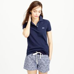 Crew for the Lacoste® for J.Crew polo shirt for Women. Find the best selection of Women Clothing available in-stores and online. Polo Shirt Outfits, Polo Shirt Women, T Shirts For Women, Clothes For Women, Polo Shirts, Color Type, Lacoste Polo, Create Shirts, Crew Clothing