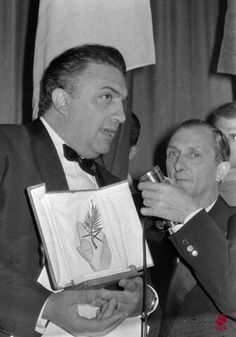 "Cannes 1960, Federico Fellini wins the Palme d'or for ""La Dolce Vita""."