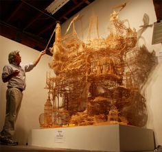 Amusing San Francisco Sculpture Made From Toothpicks