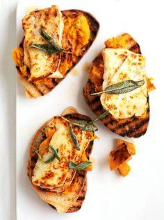 Savory Pumpkin Recipes, Veggie Recipes, Appetizer Recipes, Vegetarian Recipes, Cooking Recipes, Pumpkin Foods, Fancy Appetizers, Chard Recipes, Gastronomia