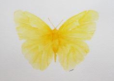 painted yellow butterfly.