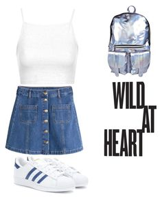 """""""Untitled #213"""" by empryssclement ❤ liked on Polyvore featuring adidas Originals, Boohoo, Topshop and H&M"""