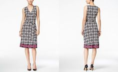 INC International Concepts Printed Faux-Wrap Dress, Only at Macy's