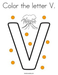 Color The Letter V Coloring Page