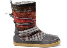 Mixed Woven Women's Nepal Boots #toms