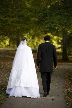 Bride and groom walking Real Weddings, Groom, Photographs, Walking, Bride, Wedding Dresses, Image, Fashion, Moda
