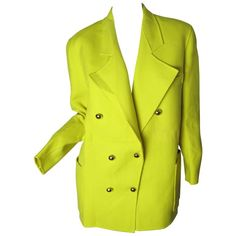 Christian Lacroix Bright Yellow Blazer   From a collection of rare vintage…