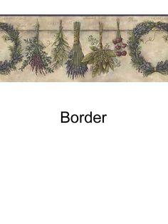Herbs border from wallpaperwholesaler.com