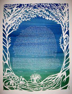 papercut Leafy Tree Ketubah by jerise on Etsy, $375.00