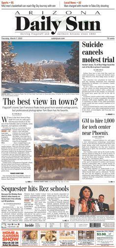 Arizona Daily Sun, published in Flagstaff, Arizona USA