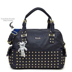 Il Tutto Frankie Nappy Baby Bag in Ink Navy with Gold studs Nappy Bags, Diaper Bag, Changing Bag, New Mums, Gold Studs, Baby Gifts, New Baby Products, Ink, Navy