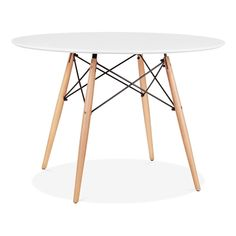 Charles Eames White DSW Dining Round Table - Diameter 110cm