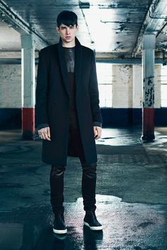 All Saints F/W 2014 via @Fucking Young. The Razor denim with the leather patch are my next purchase!