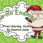 Ho-Ho Endings Literacy and Math Freebie - Keep your little elves busy learning with this fun math and literacy center.  ...