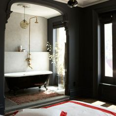 10 Vintage Bathroom Ideas on Clippings...like how the tub is in a 'separate' room