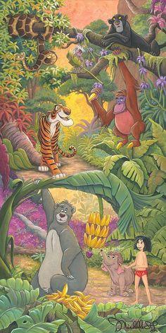 Jungle Book Walt Disney Fine Art Michelle St. Laurent Signed Limited Edition of 195 on Canvas