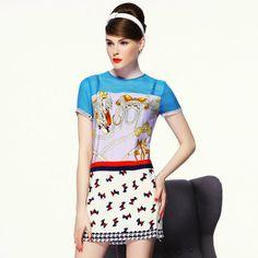 Women's New Short-Sleeved Mulberry Silk Dress - $49.00 | zoesshop