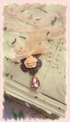 Mori Girl Necklace Peach Rose by BerthaLouiseDesigns on Etsy
