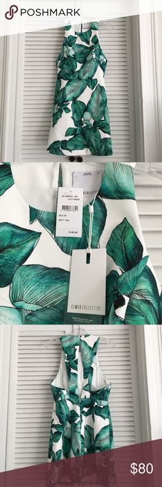 NWT! C/Meo Collective fit&flare palm dress, size M NWT! Gorgeous C/Meo Collective fit and flare dress in Lily Palm. Size medium. Back zipper with button closure at top. I sized up since it was the only size left and unfortunately it was too big! Reasonable offers will be considered. C/MEO Collective Dresses Mini