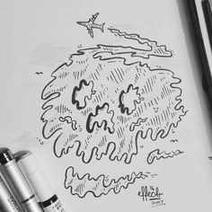 Heres #22 for inktober (Trail) .  .  .  .  .  #inktober #inktober2017 #inktoberprompts #trail #airplane #skull #angry #conspiracytheory #lookup #deadly #effect14 #art #artistoninstagram #instagood #followformore #drawing #traditionalart #artlife