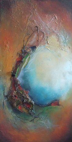 TITRE : Comme un miroir    //    Peinture acrylique et techniques mixtes sur toile