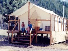 Canvas Tents, Deck Tents, Bush Tents, Bedrolls, Teepees | David Ellis Canvas Products