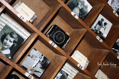 Cool way to display vintage cameras and photos