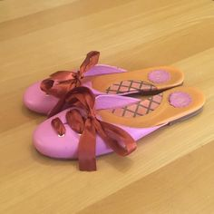 8deda710d860f6 Cydney Mandel Mules Made In Brazil Size 9 Pink Flats Pink Flats, Brown  Leather,. Tradesy